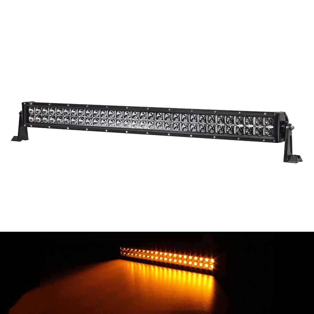 30 inch 180w amber white led strobe light bar