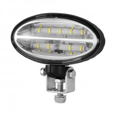 John Deere Oval LED Replacement Pedestal Mounted Flood Lamp - RE573609