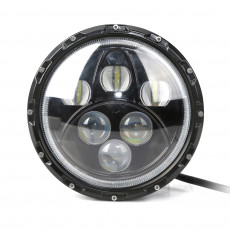 "7"" Round 60W Sealed Beam LED Jeep Headlight"