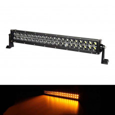 20 INCH 120W AMBER WHITE STROBE LED LIGHT BAR