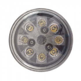 24W LED Sealed Round Hi/Lo Beam with Screw Connection