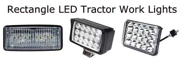 Rectangle LED Tractor Work Lights
