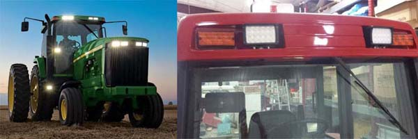 Rectangle led tractor work light