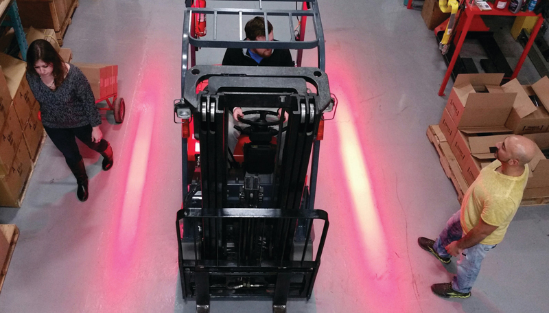 led forklift safety lights